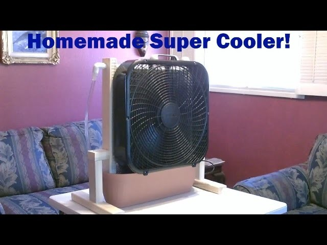 "Homemade Evaporative Cooler! - ""whole room"" Super Cooler!  - up to 30F drop! - Easy DIY"