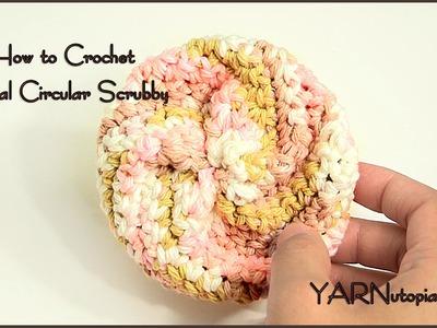 How to Crochet a Spiral Circular Scrubby