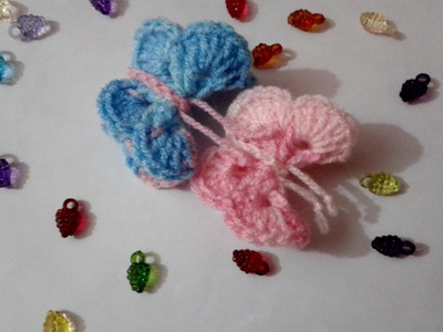 How to crochet butterfly 3d (video tutorial)