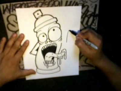 How to draw a spraycan (crazy character)