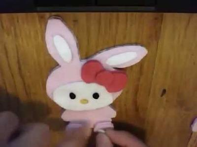 How to make a Bunny Hello Kitty plush tutorial