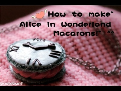 How to make~ Alice In Wonderland Re-ment Inspired Macaron Necklace