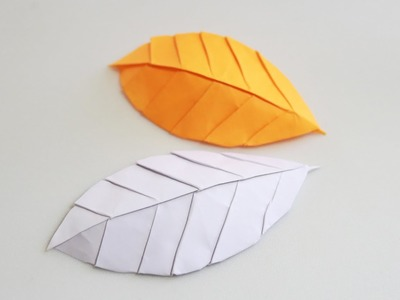 How to make an origami leaf (Henry Phạm)