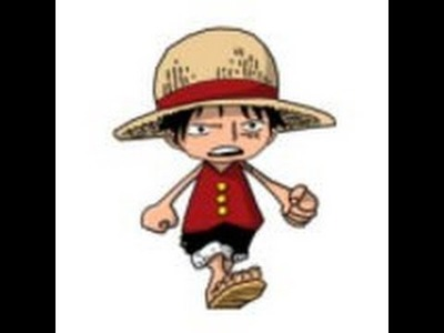 How to make mini Luffy with clay