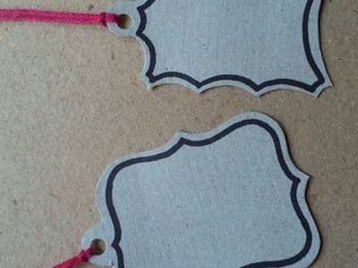 How To Make Simple Cardstock Gift Tags - DIY Crafts Tutorial - Guidecentral
