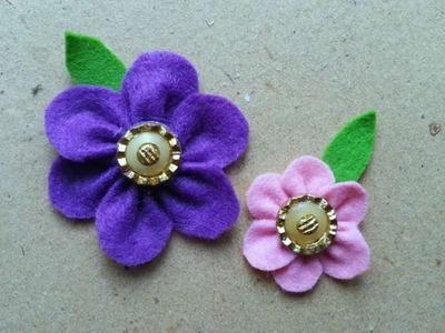 How To Make Vintage Felt Flowers - DIY Crafts Tutorial - Guidecentral