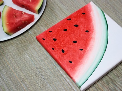 How To Paint a Watermelon - DIY 2.3 Fruit Painting Series