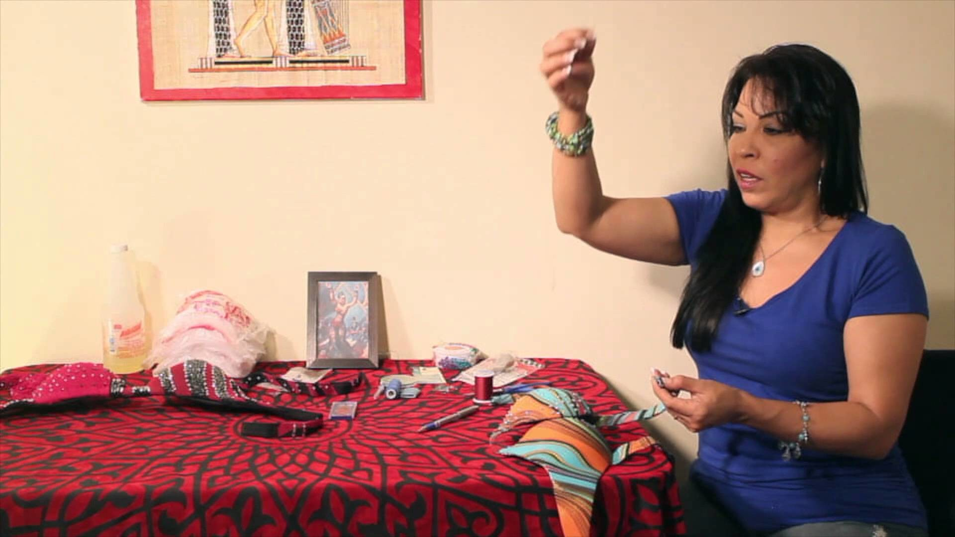 How to Sew Hooks and Eyes for your Bellydance Bra Part 1 of 2