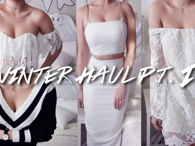 HUGE (Warm) WINTER TRY-ON HAUL PART 2 | Perfect Holiday Outfits, Warm Knits & more!