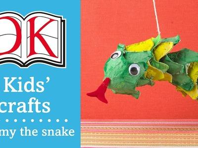 Kids' Craft: Sammy the Egg Carton Snake