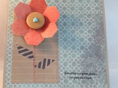 Make flowers with a Honeycomb Embossing Folder or Hexagonal Papers