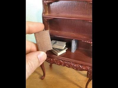Making Miniature Dollhouse Books