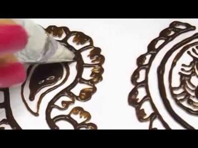 Mango shape - henna design tutorial (do it yourself) DIY