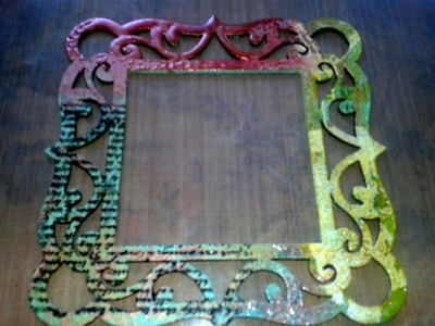 Mixed Media Art Wood Frame - Embossing Techniques, UTEE, & Pearl-Ex