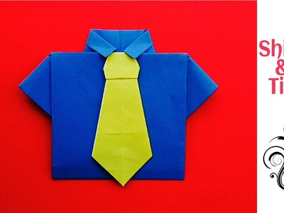 Origami Paper Dress - Shirt and Neck Tie (No glue required)