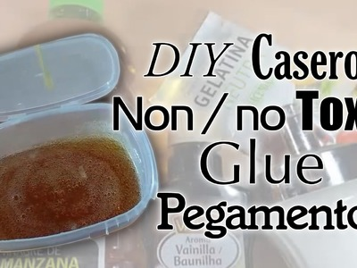 Pegamento casero no Toxico, non-toxic lip and stick DIY Envelope Glue