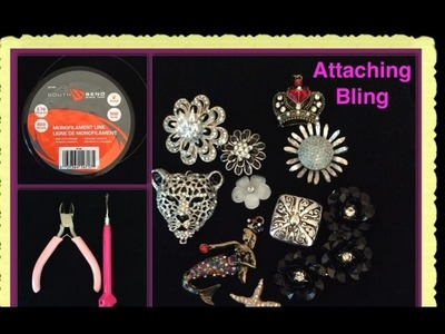 Rainbow Loom Band Attaching Bling Tutorial.How To