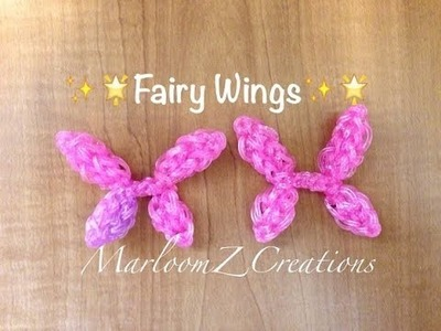 Rainbow Loom Fairy Wings: Charms Princess