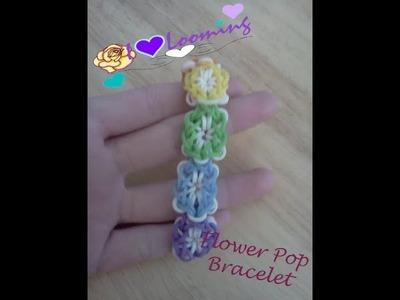 Rainbow Loom Flower Pop Bracelet