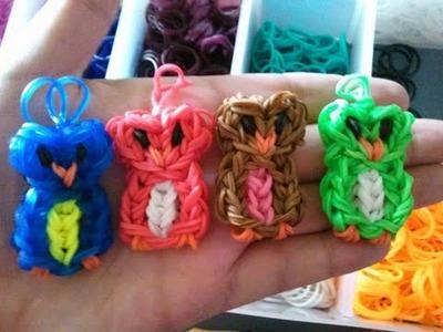 Rainbow loom Owl Charm Easy