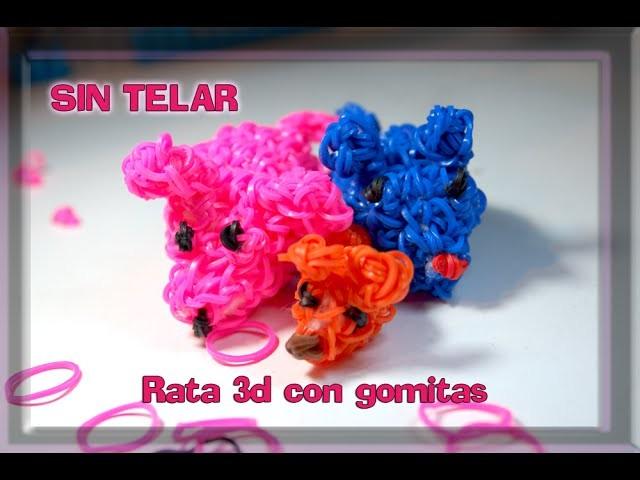 Rata 3D sin telar. Crochet. Rat 3D. Rainbow Loom. Loomigurumi. Amigurumi