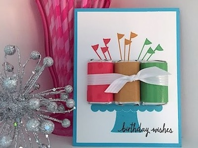 Simply Simple Hershey Miniature Birthday Card by Connie Stewart