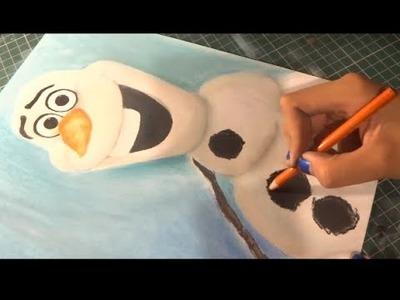 Speed Drawing: Olaf (Frozen) | Diana Díaz