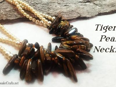 Tiger & Pearls Necklace Tutorial