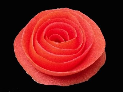 Tomato Rose Flower - Beginners Lesson 12 By Mutita The Art Of Fruit And Vegetable Carving Tutorial