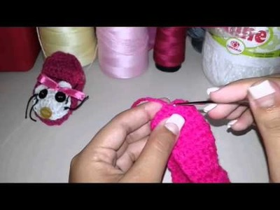 Zapatitos en crochet -Hello kitty 1.2