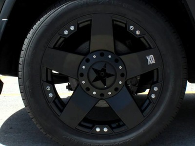 "2012 Jeep Grand Cherokee custom rims 20"" inch KMC XD Rockstars Black Wheels"