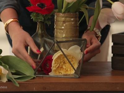 3 DIY Flower Arrangements | Haute Hostess