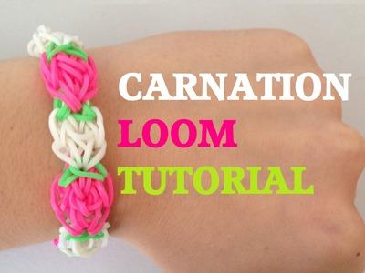 CARNATION Rainbow Loom bracelet Tutorial