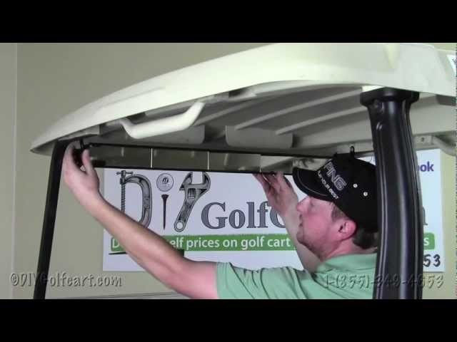 Club Car Precedent 5 Panel Rear View Mirror | How to Install | Installing on a Golf Cart
