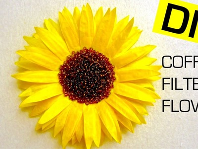 Coffee Filter Flower DIY (Sunflower) | How to Dye Coffee Filters with Food Coloring