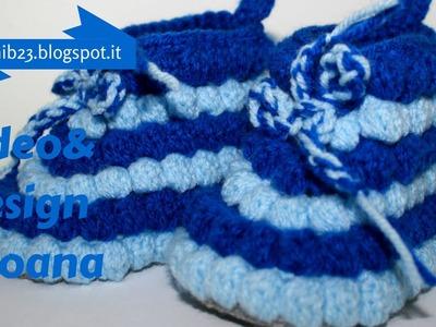 Crochet baby booties Bubble