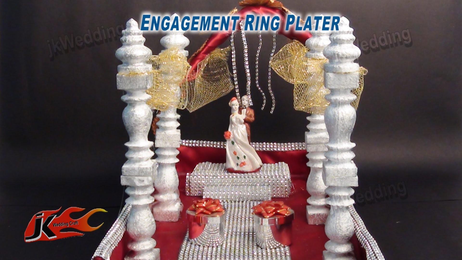 DIY Engagement. Wedding Ring Platter  | How to make | JK Wedding Craft 016