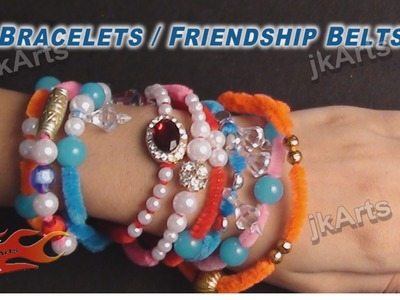 DIY Friendship band from Fizzy Sticks |  How to Make | JK Arts 319