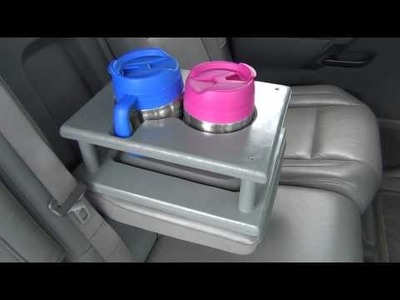 DIY: Vehicle rear seat cup holder extension.