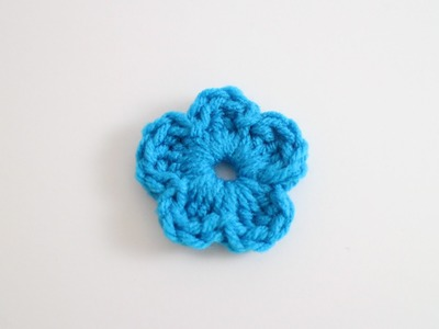Easy Crochet Flower Left Hand