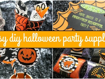 Easy DIY Halloween Party Supplies & Giveaway! Ft. Diemond Dies | Halloween Craft Series 2015 #6