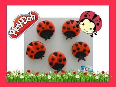 Fun DIY Play Doh How to Make Ladybird  ladybug Cookie Video Tutorial