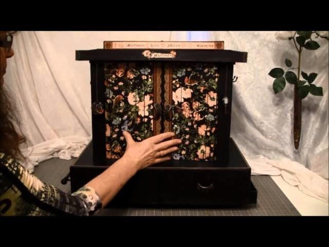 Graphic 45 bird song storage  carousel organizer