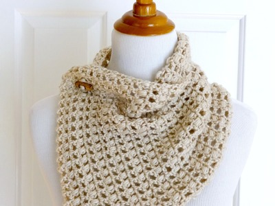 How To Crochet the French Vanilla Button Cowl, Episode 261