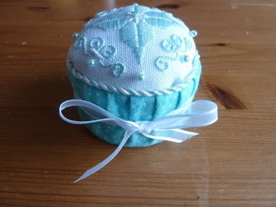 How to finish a small piece of needlework into a cupcake