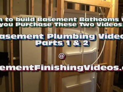 Plumbing for basement bathroom