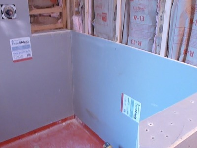 """How to install shower surround tile backer board, durock or cement board -   PART """"1"""""""