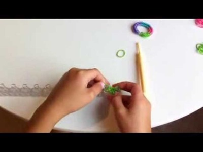How to make a fishtail rainbow loom bracelet for your american girl doll