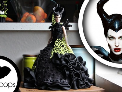 How to Make Maleficent Doll Cake