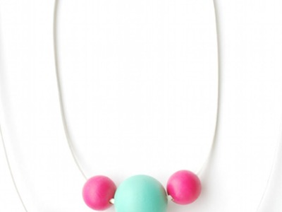 Make a Painted Wooden Bead Necklace - DIY Style - Guidecentral